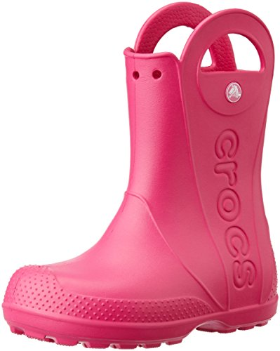 cheap for discount ddc7f 5f2ba Kids Wellies Girls, Crocs Handle It Rain Boot, Pink, 27 / 28 EU