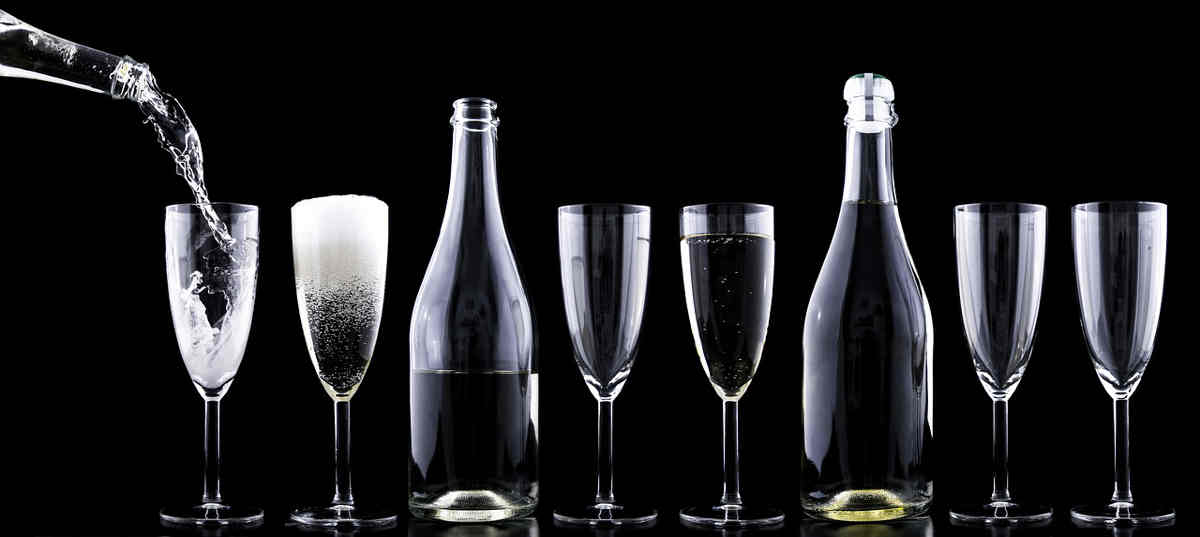 Champagner glässer