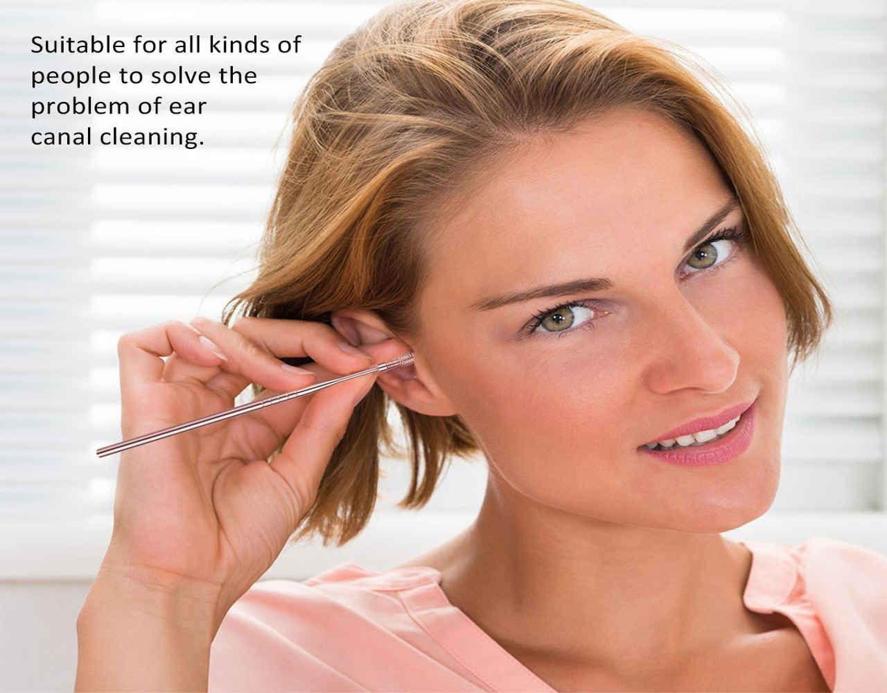 1 Ohrenreiniger Spirale Silikon Ohr Wachs Entfernung Tool Kit for ohrenschmalz entfernen MEHRWEG