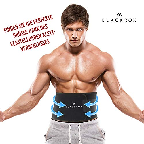 Blackrox Waist Trimmer Fitnessgürtel Vergleichssieger Damen & Herren,Schwitzgürtel Fettverbrennung, Premium Verstellbarer Bauchweggürtel zum Abnehmen