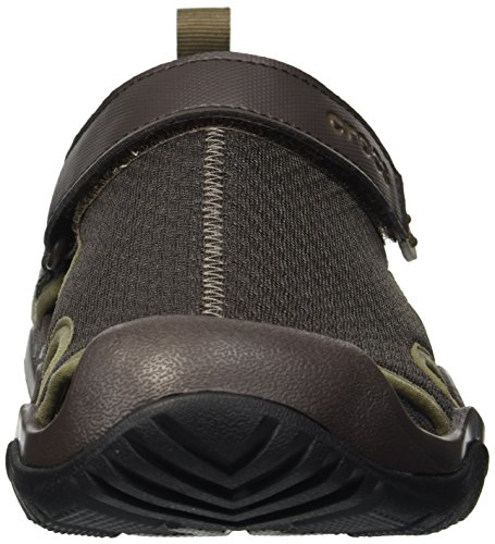 Sandały męskie Crocs Swiftwater Mesh Deck szare