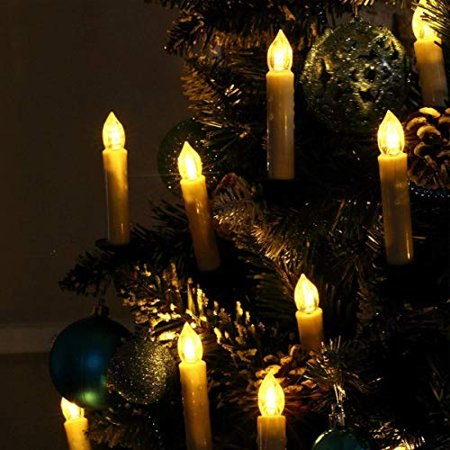 Christmas tree candles wirelessly