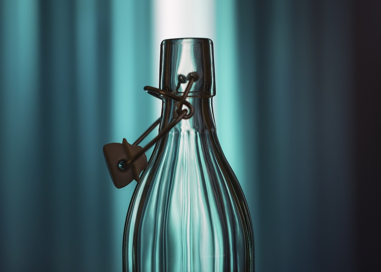 Trinkflasche Glas