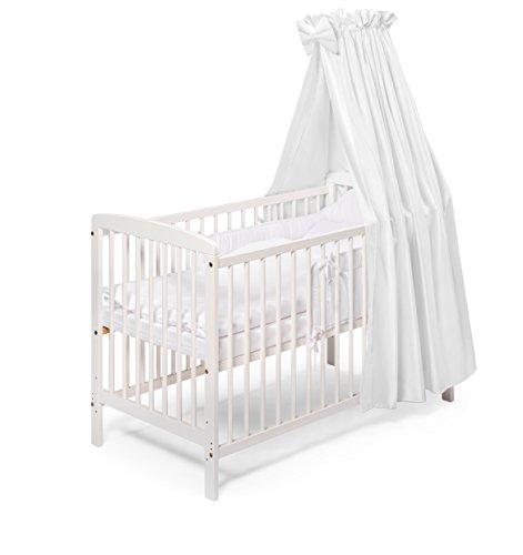 120x60 cm KOKO -Babybett weiss LILLY